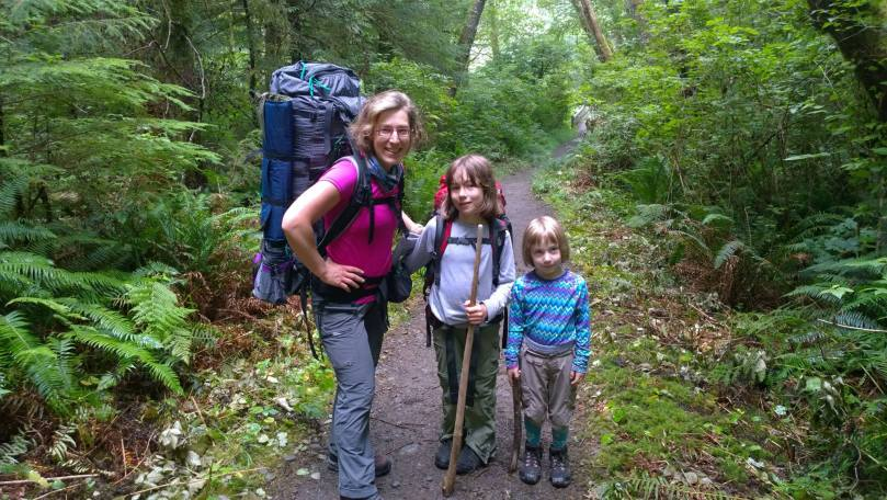 Backpacking with the girls, 3 months after John died