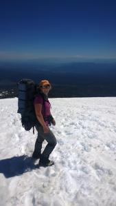Tired but happy on Mount Adams, June 2015