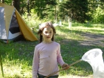 Isabella on our land, 2012, age 7